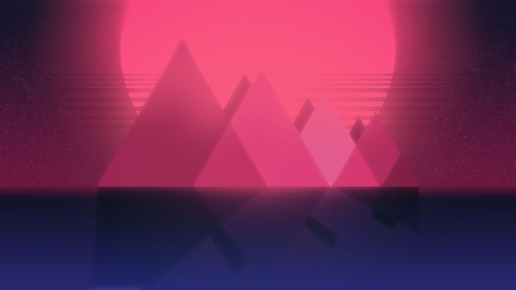 Retrowave-themed Wallpaper