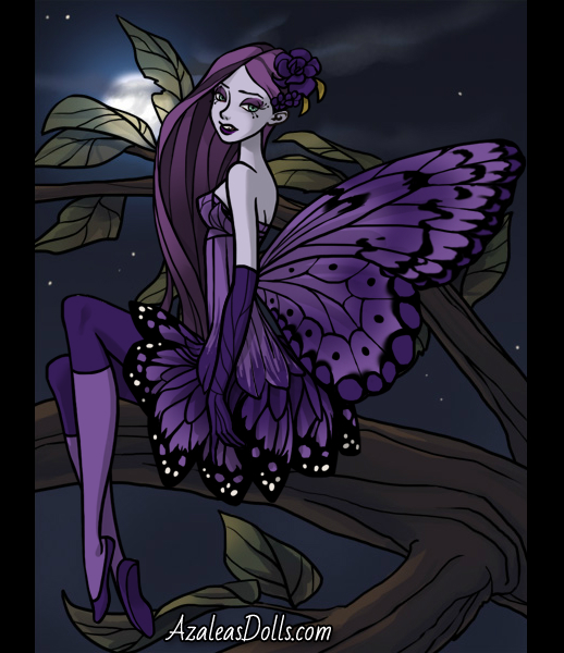 The dark purple fairy by faoula16