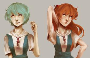 eva girls by xBlackMelody