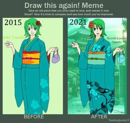 Draw this again - Neashi in her Kimono