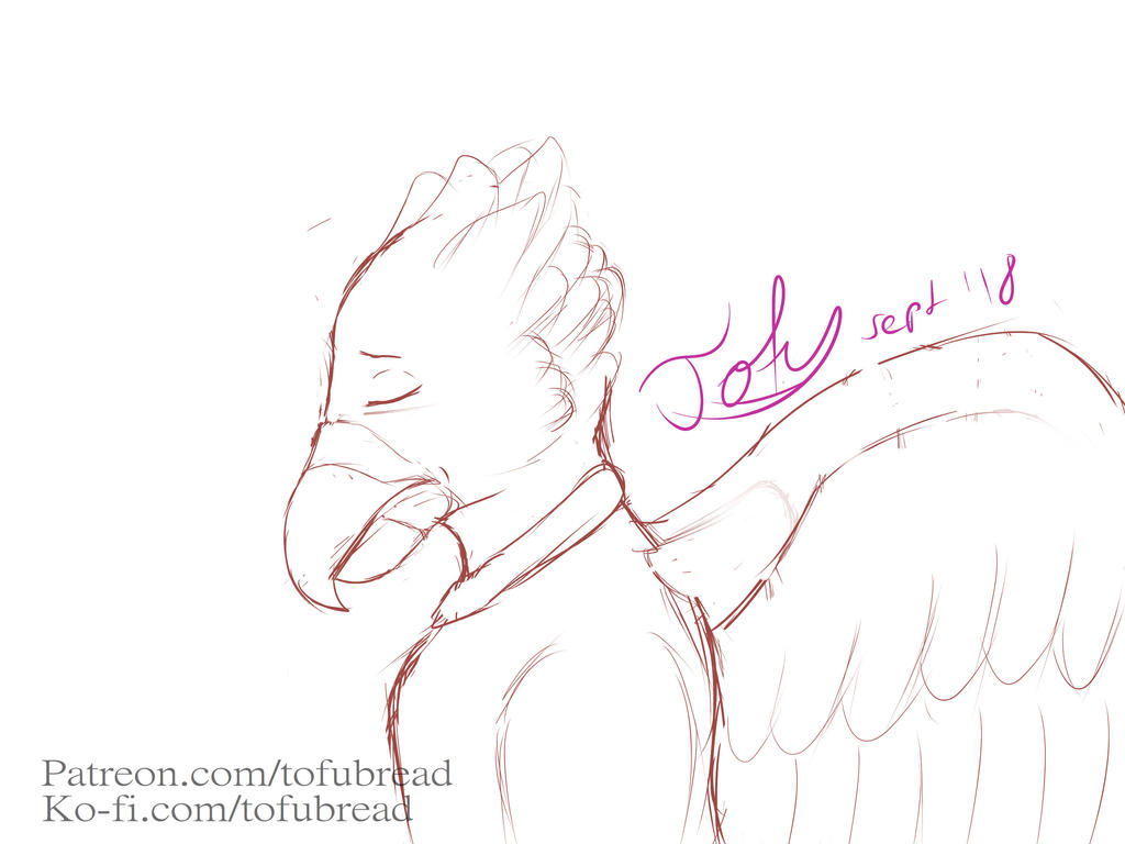A sad birb by xtofubreadx
