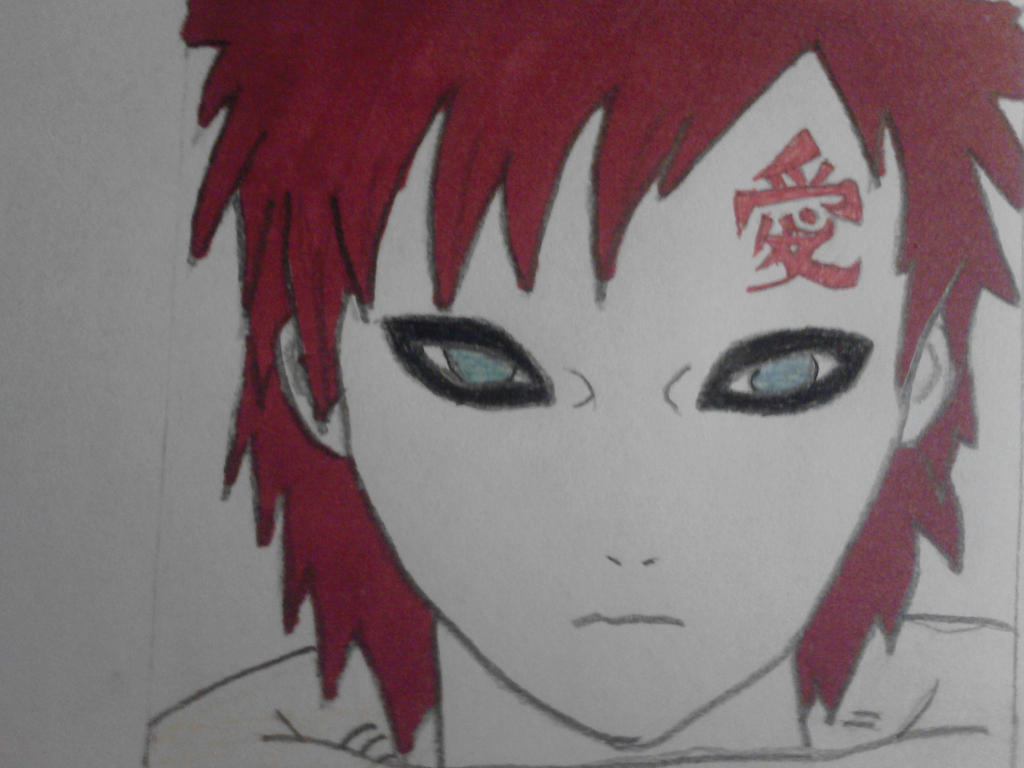 Kazekage Gaara without his hat by MonsterGaara