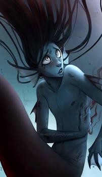 Hurt mermaid