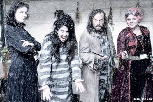 Snape, Bella, Sirius and Tonks