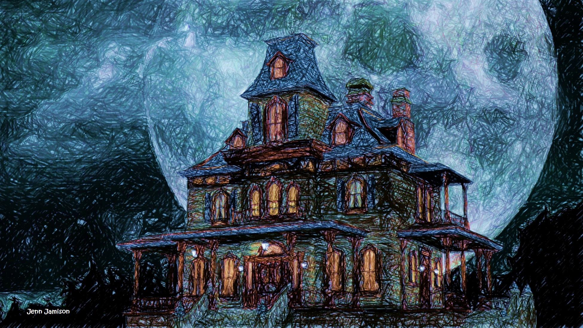 Drawlloween 2018 Day5 Haunted House