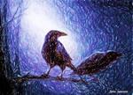 Drawlloween 2018 Day23 Raven