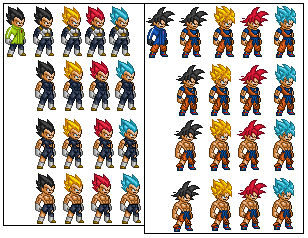 Dragon Ball Super Broly Goku And Vegeta Sprites By