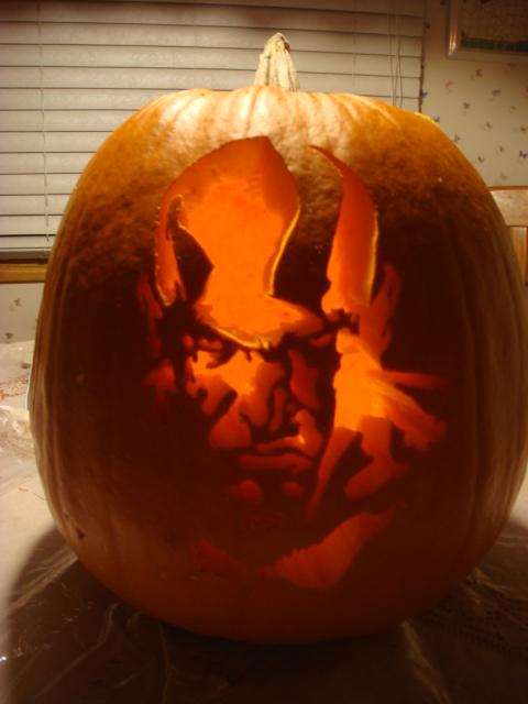Kratos Pumpkin God of War by Slayersrx7