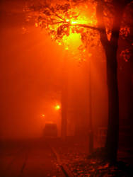 Lamps Glowing in the Fog by Hunabku13