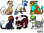 A batch of pixel icons by kwinzilla