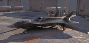 Concept stealth fighter