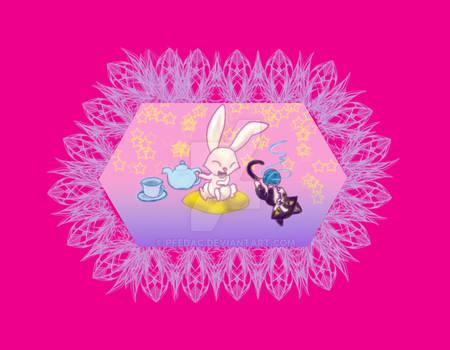 tea label 02: cozy in pink