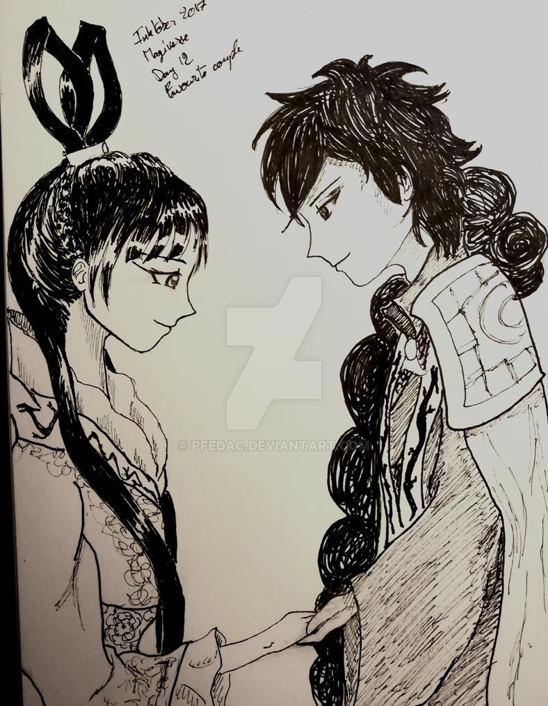 Magiinktober day 12: Favorite Couple by Pfedac