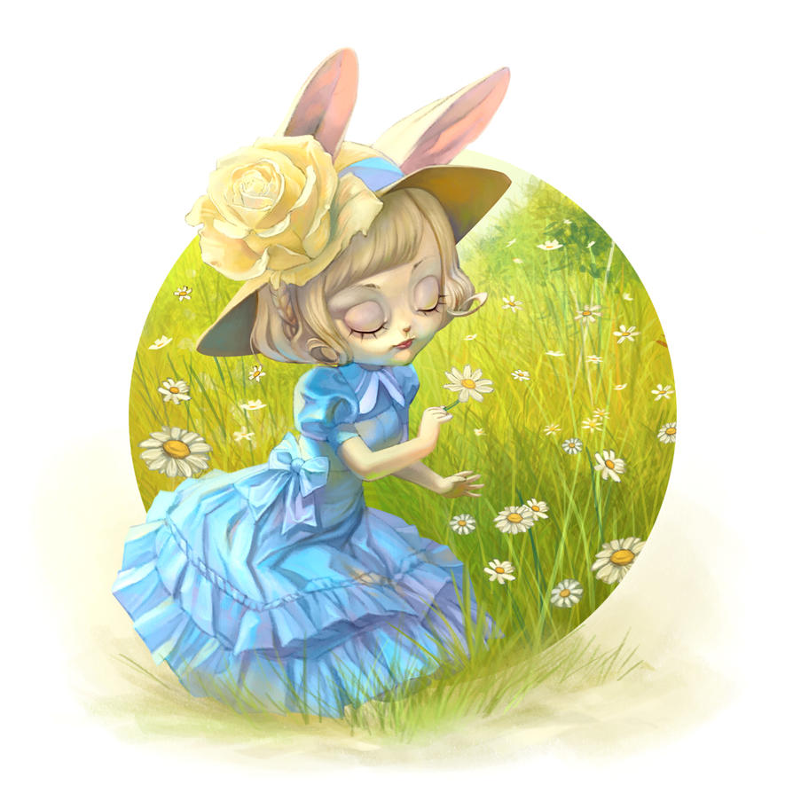 Susy in the daisies field by chamakoso