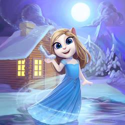 My Talking Angela: Christmas Cinderella by chamakoso