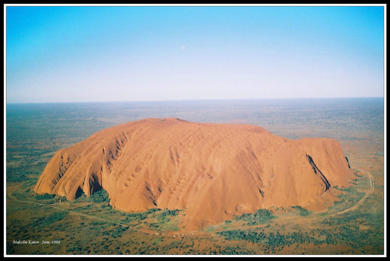 Ayers Rock from the Air by FireflyPhotosAust