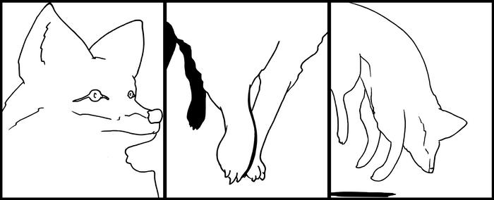 3 panel animal WIP