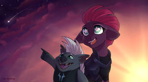 Falling star -  Tempest Shadow and Grubber