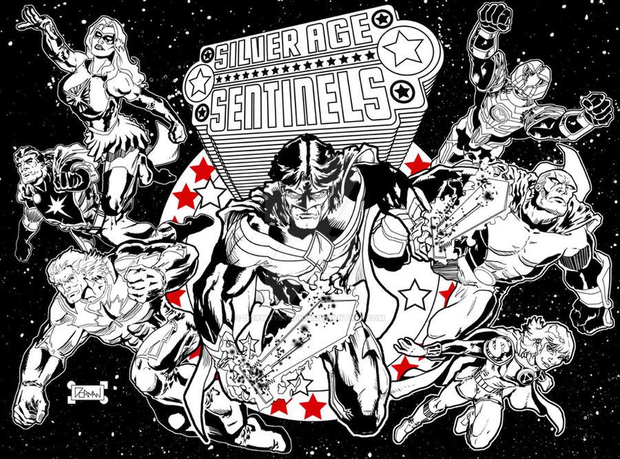 The Silver Age Sentinels by dorwaystudios