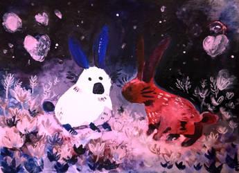 rabbits by muhvu