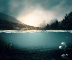 underwater free stock premade background by anulubi