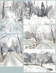 Winter Watercolour Sketches
