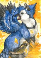 Blue Paints by Pannya