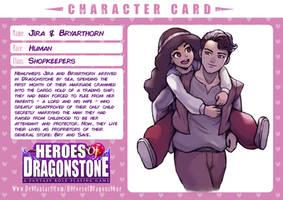 Dragonstone Character Card - Jira and Bryarthorn by MightyMegaHeart
