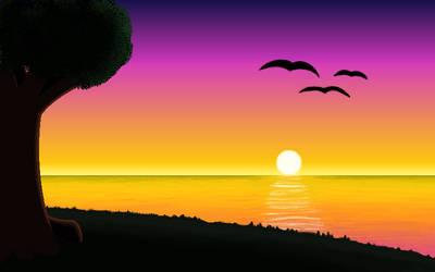 chill sunset