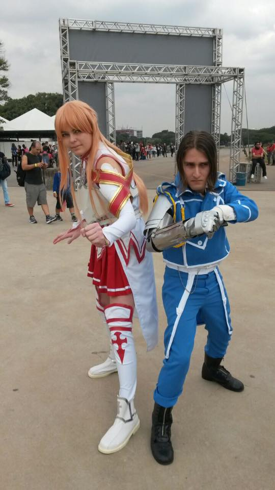 Asuna and Edward Elric by BahDecnop