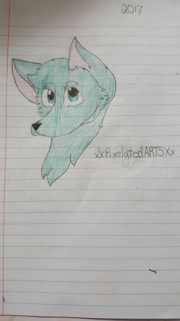 Pretty Wolf by xXPixelatedARTSXx