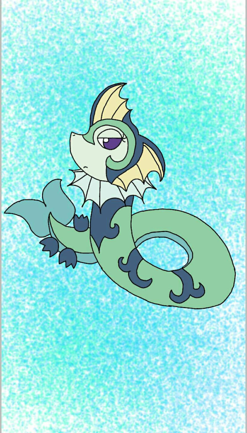 Pokemon fusion Superior and Vaporeon by xXPixelatedARTSXx