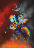 Rainbow Dash The Hammer of Imperium by Mr-retro-Man