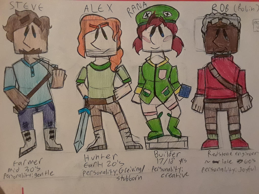 The Minecraft Four (wow creative title) by TheCreatorLynn on