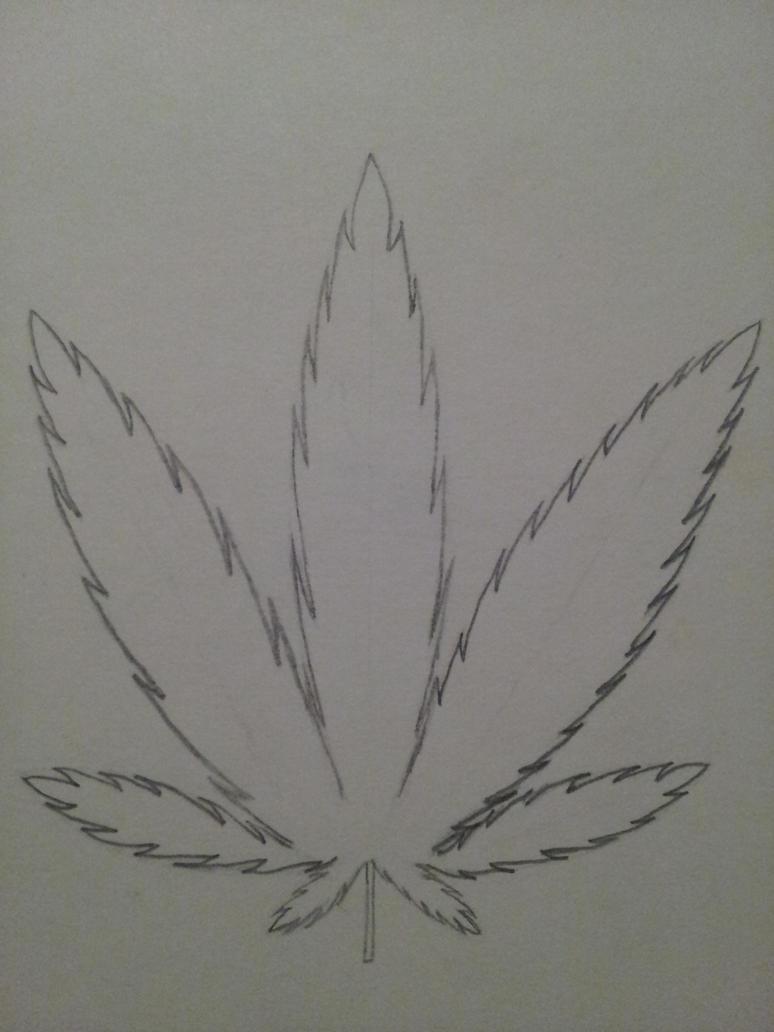 Perfect Weed Leaf by MyaBabie on DeviantArt