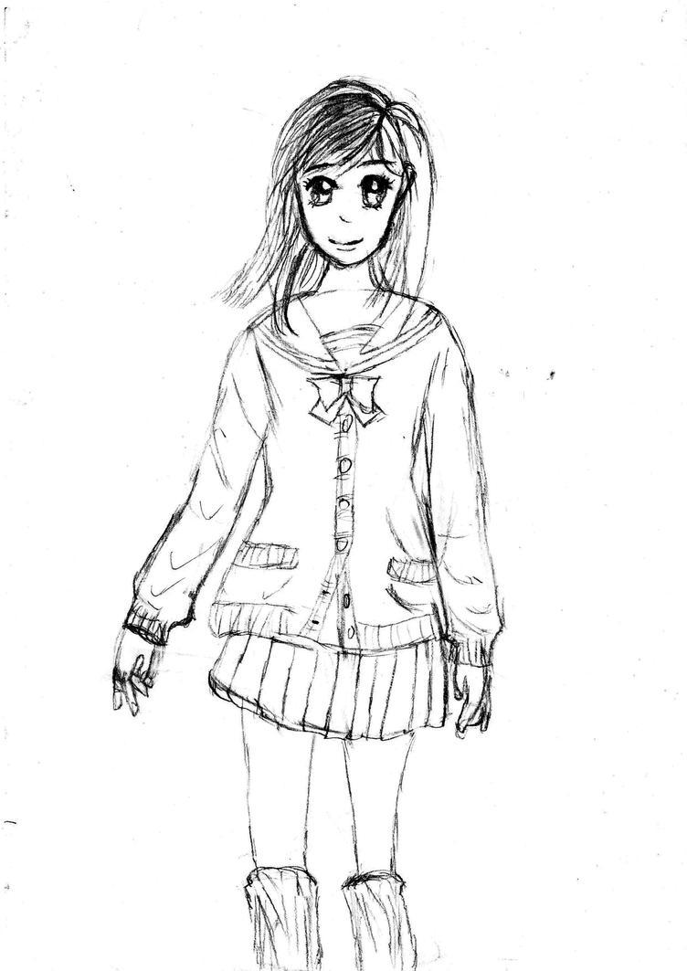 Anime Girl Sketch By NumberSevenArt On DeviantArt
