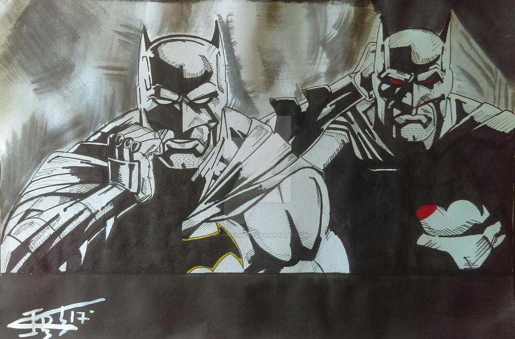 Batman Rebirth Father and Son by johnnyrider