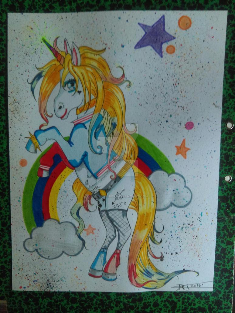Unicorn Harley Quinn by johnnyrider