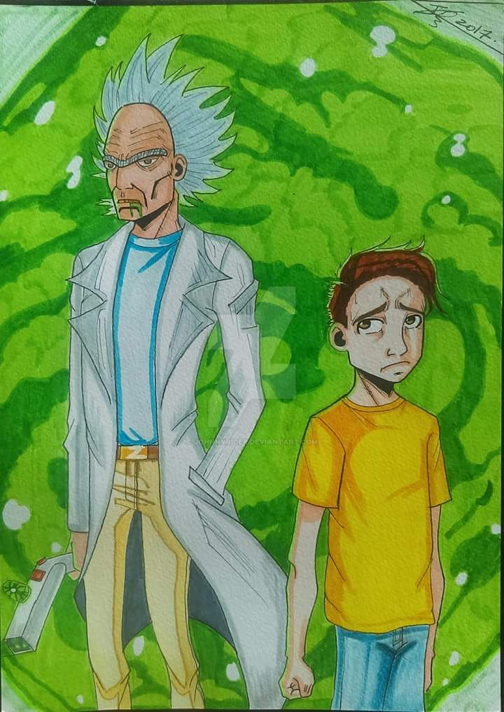 Rick et Morty fan art by johnnyrider