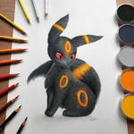 Realistic Umbreon Drawing