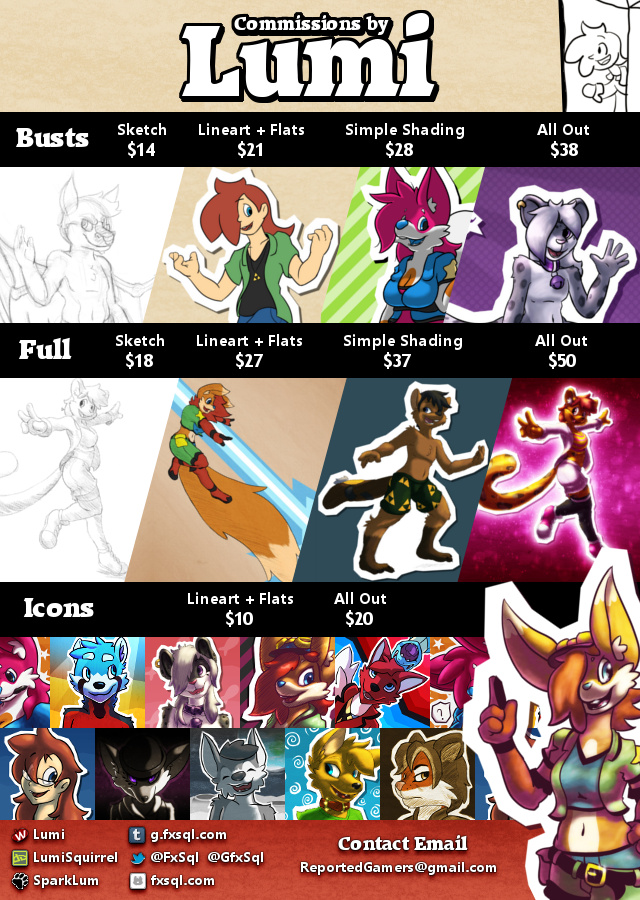 Commission Info 2015 by LumiSquirrel