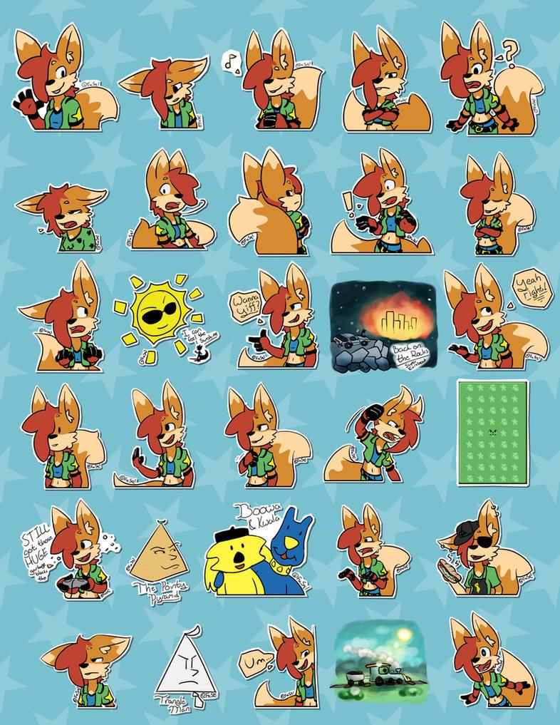 Lumi Telegram Stickers by LumiSquirrel