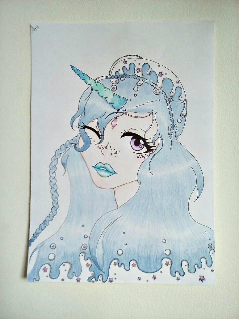 Unicorn girl. by UnePetiteMinette