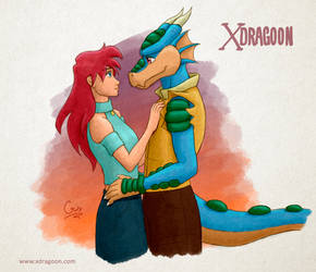 Renata and Rocky  - Xdragoon by Gata-flecha