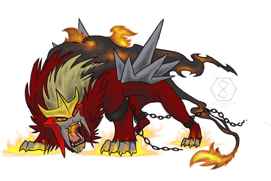 Entei, The Raging Wildfire by 6th-Dimensional on DeviantArt