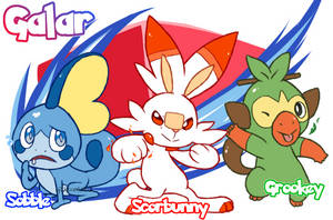 Pokemon Sword n Shield Starters by Gladioh