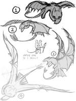 Toothless Sketches by An0nym0useArt
