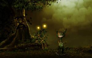 Cheshire cat-wallpaper by ShangyneX