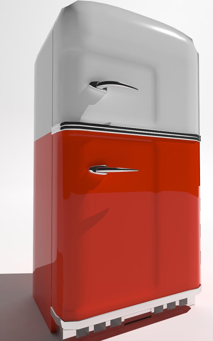 Retro refridgerator WiP by ShangyneX