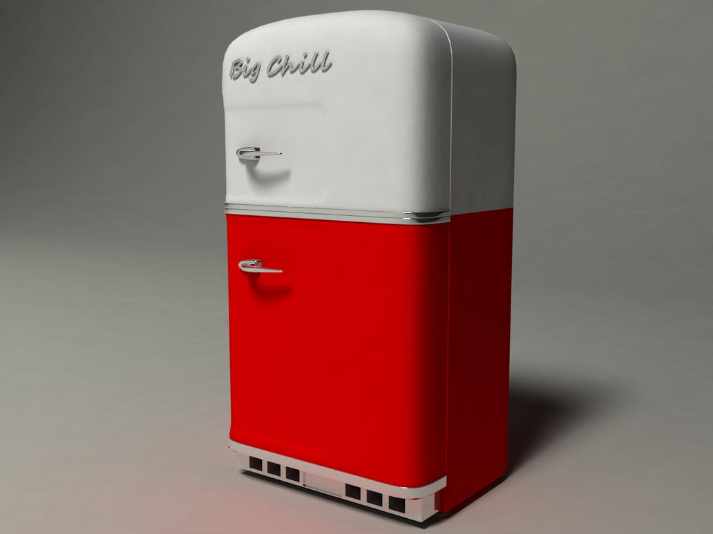 Retro refridgerator vray render by ShangyneX